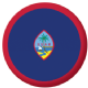 Guam Country Flag 25mm Flat Back